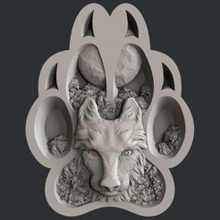 Descargar modelo 3D lobo, 3dmodelsByVadim
