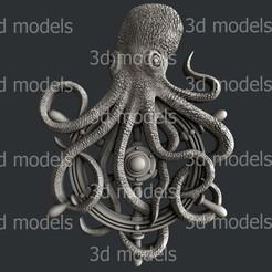 P335a.jpg Télécharger fichier STL pieuvre • Modèle pour impression 3D, 3dmodelsByVadim