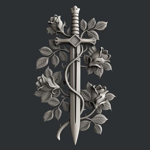 3D print files Sword Rosses, burcel