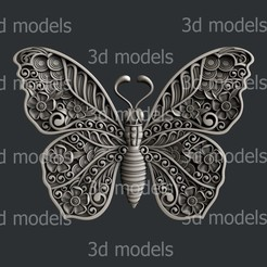 P354a.jpg Download STL file Butterfly • 3D printer model, 3dmodelsByVadim