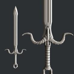 Modelos 3D para imprimir Espada, burcel