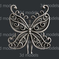 P363a.jpg Download STL file woman butterfly • 3D printer template, 3dmodelsByVadim