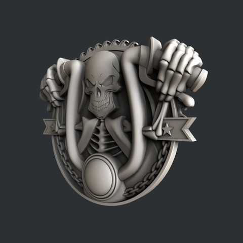 P55-2.jpg Download STL file 3d models Skull motorcycle • 3D printable model, 3dmodelsByVadim