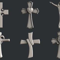 3D print files Set cross, burcel