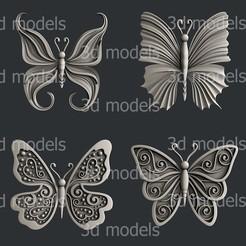 P330 alla.jpg Download STL file Set butterfly • 3D print design, 3dmodelsByVadim
