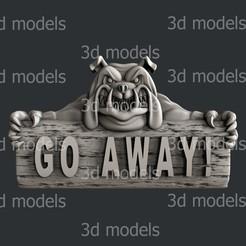 P340a.jpg Download STL file Go away dog • Template to 3D print, 3dmodelsByVadim
