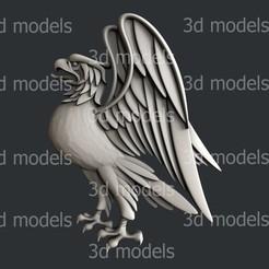 P332a.jpg Download STL file eagle • 3D print template, 3dmodelsByVadim