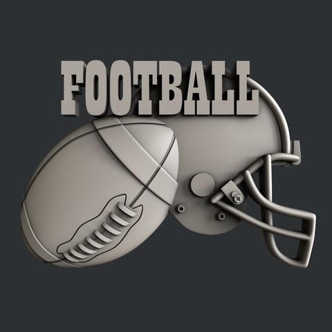 P105h.jpg Download STL file Set American Football • 3D printable model, 3dmodelsByVadim