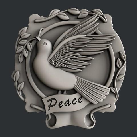 3D printer files Dove Peace, burcel