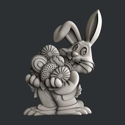 STL files Easter bunny, burcel