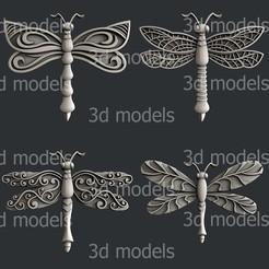 P336-alla.jpg Download STL file dragonfly set • 3D print template, 3dmodelsByVadim