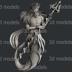 P357a.jpg Download STL file Poseidon • 3D printable template, 3dmodelsByVadim