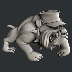 Download 3D printing templates dog , burcel