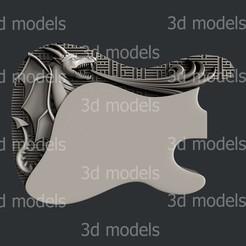 Guitar3a.jpg Download STL file Guitar3 • 3D printer template, 3dmodelsByVadim