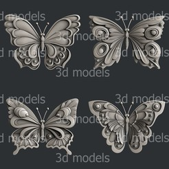 P321-alla.jpg Download STL file Butterfly • 3D printer model, 3dmodelsByVadim
