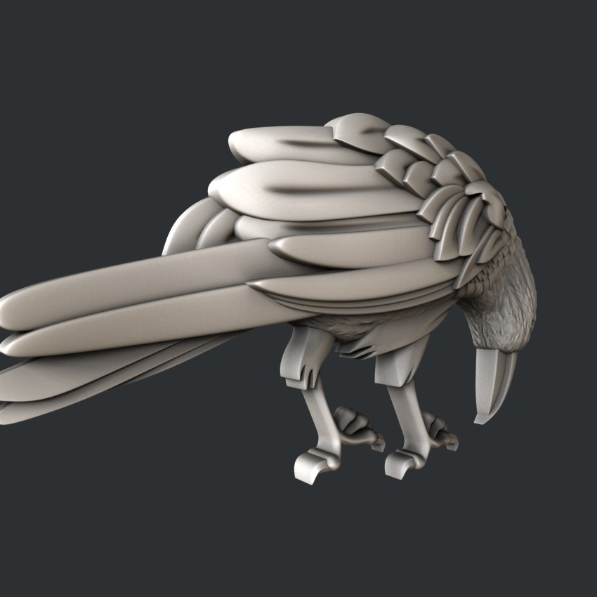 P107-1.jpg Download STL file Raven • 3D printable design, 3dmodelsByVadim