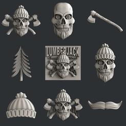 Descargar diseños 3D Leñador, burcel