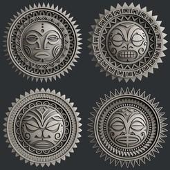 Download 3D printer model Polynesia Sun, burcel