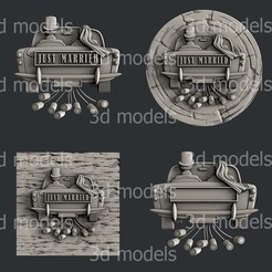 P334-alla.jpg Download STL file Just married • Template to 3D print, 3dmodelsByVadim