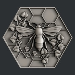 bee.jpg Download STL file 3d models bee • Object to 3D print, 3dmodelsByVadim