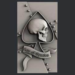 3D print files Ace of spades, burcel