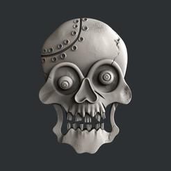 3D printing model skull, burcel