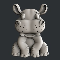 Download 3D model Hippo for kids, burcel
