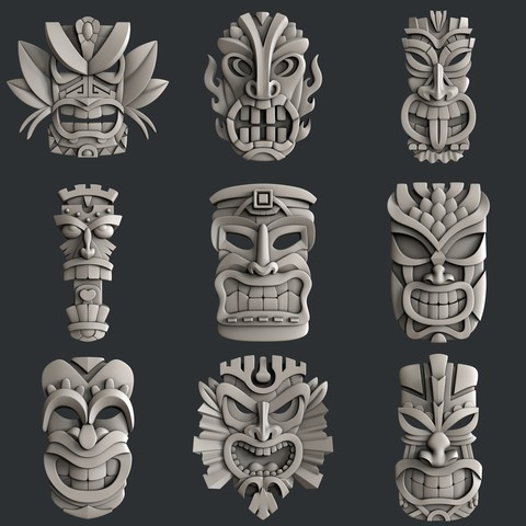 Download 3D printing designs Set Totem, burcel