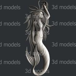 P333a.jpg Download STL file mermaid • 3D print object, 3dmodelsByVadim