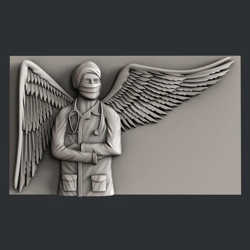 Télécharger fichier STL gratuit ange médecin • Design à imprimer en 3D, 3dmodelsByVadim