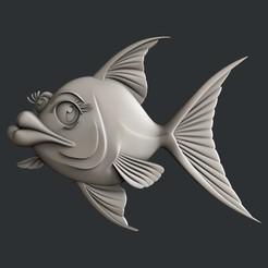 Diseños 3D pez anime, burcel