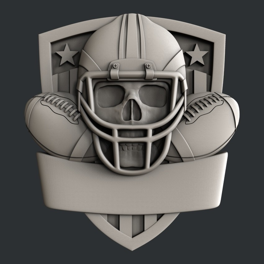 P105d.jpg Download STL file Set American Football • 3D printable model, 3dmodelsByVadim