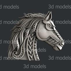 P347a.jpg Download STL file Horse decor • 3D print template, 3dmodelsByVadim