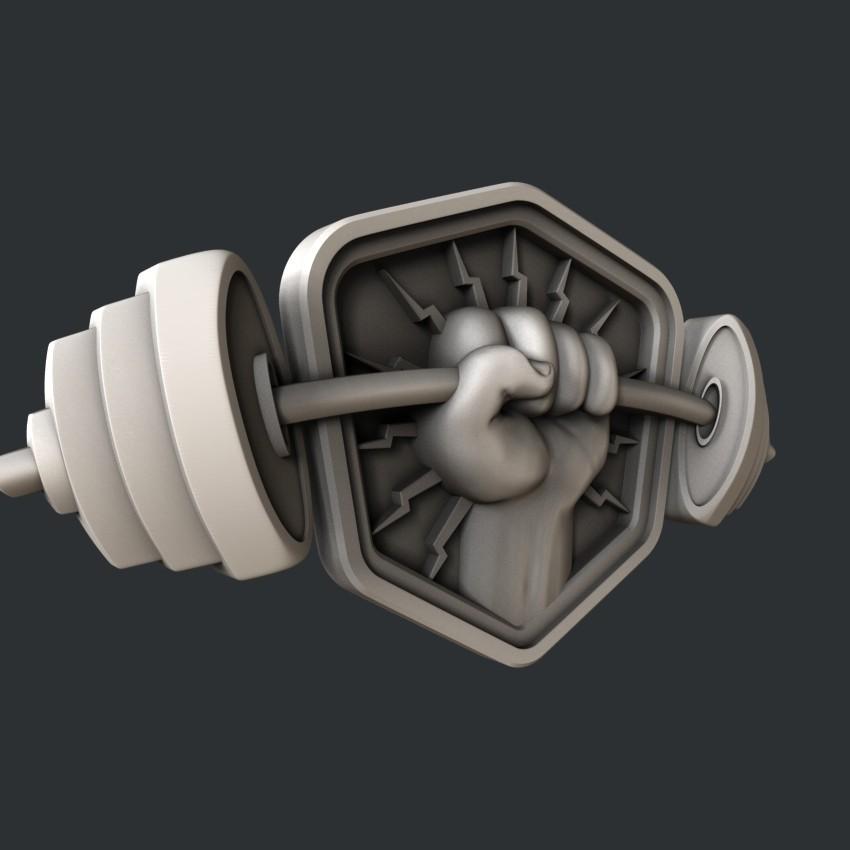 P20-0.jpg Download STL file 3d models barbell • 3D printable model, 3dmodelsByVadim