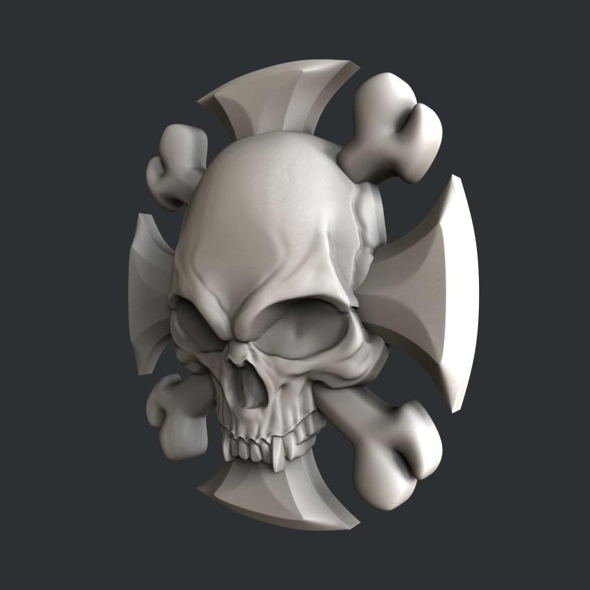 P73-2.jpg Download STL file 3d models Skull • 3D printing model, 3dmodelsByVadim