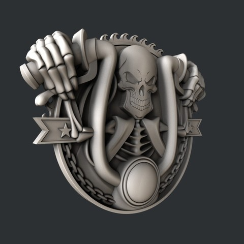 P55-1.jpg Download STL file 3d models Skull motorcycle • 3D printable model, 3dmodelsByVadim
