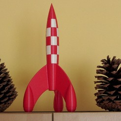 Download 3D printer templates Tintin Rocket 30 cm, KEtienne