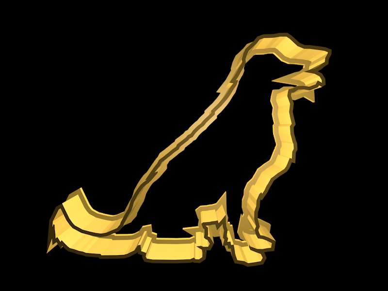 golden.png Download STL file Dog cookie cutter set • 3D printing design, davidruizo