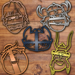 Todo.png Download STL file How to train your dragon cookie cutter set • 3D printing model, davidruizo