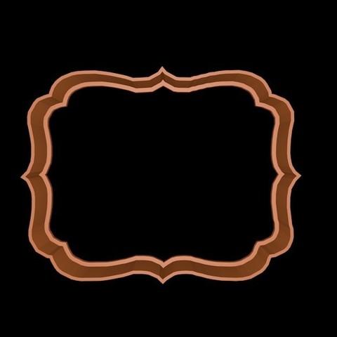 marco5.jpg Download STL file Vintage Frame cookie cutter set 2 • 3D printable design, davidruizo