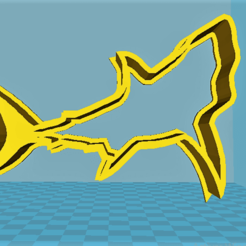 modelos 3d Shark cookie cutter, davidruizo