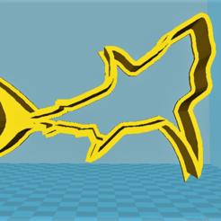 STL Shark cookie cutter, davidruizo