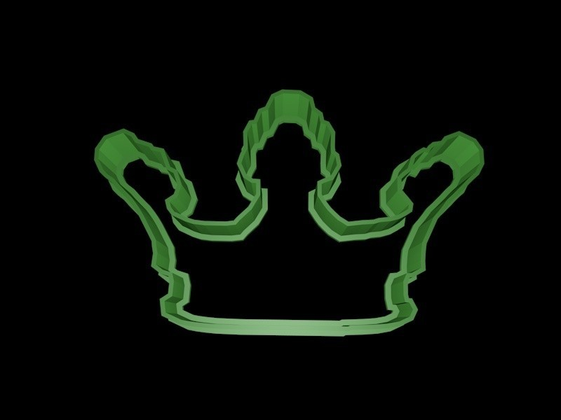 crown 5.jpg Download STL file Crown cookie cutter set • 3D printer design, davidruizo