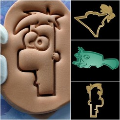 Download 3D printing designs Phineas and Ferb cookie cutter set, davidruizo