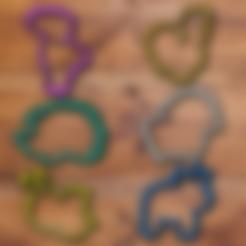 bee.stl Download STL file Fancy Animals cookie cutter set • 3D printable model, davidruizo