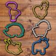 todo.png Download STL file Fancy Animals cookie cutter set • 3D printable model, davidruizo