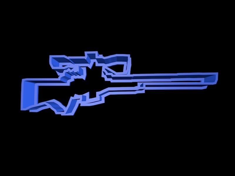 sniper.jpg Download STL file Fortnite Cookie Cutter Set • 3D printing template, davidruizo