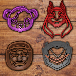 STL files Fortnite Cookie cutter set, davidruizo
