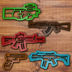 Download 3D printer designs Gun cookie cutter set, davidruizo