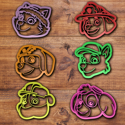 3D printer models Paw Patrol Cookie cutter set , davidruizo